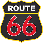 Route 66 Sticky Logo